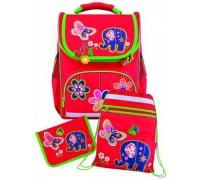 Рюкзак Слоник (пенал + мешок для обуви) для девочки