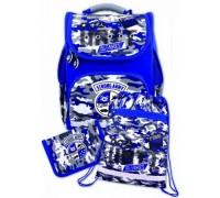Рюкзак Рюкзак 36745 Милитари (синий) (пенал + мешок для обуви) для мальчика начальная школа