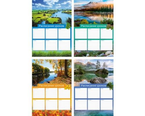 Расписание уроков А4 Красота земли (ассорти) вертикальное