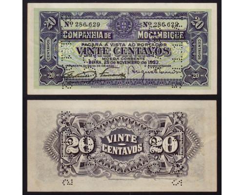 Банкнота 20 Сент Мозамбик 1933 (300) /БЕЗ СКИДКИ/