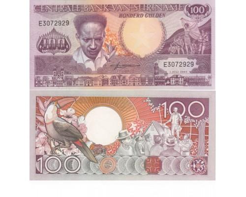 Банкнота 100 гульденов Суринам /БЕЗ СКИДКИ/