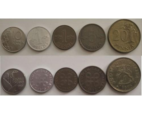 БЕЗ СКИДКИ Набор из 5 монет Финляндия