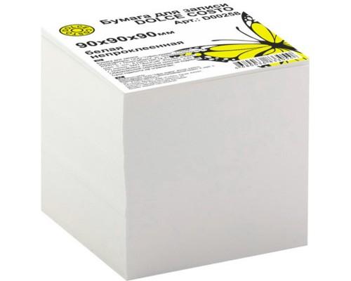 Блок бумажный для записей белый 90*90*90мм DOLCE COSTO эконом