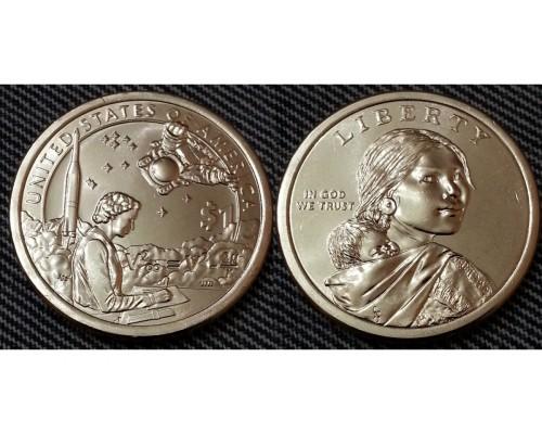 БЕЗ СКИДКИ Монета 1 доллар США Индейцы в космосе 2019