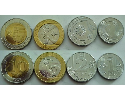 БЕЗ СКИДКИ Набор из 4 монет Молдова 2018