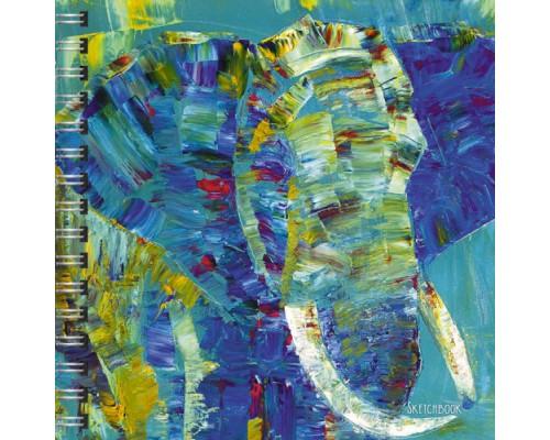 Скетчбук 80 листов на спирали Слон (графика)