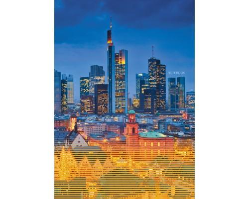 Книга для записей А4 128 листов Огни города