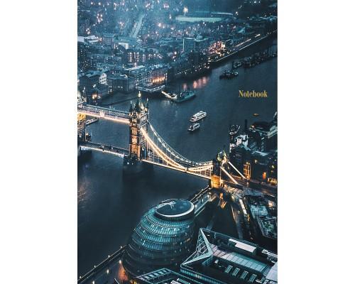 Книга для записей А4 200 листов Вечерний Лондон