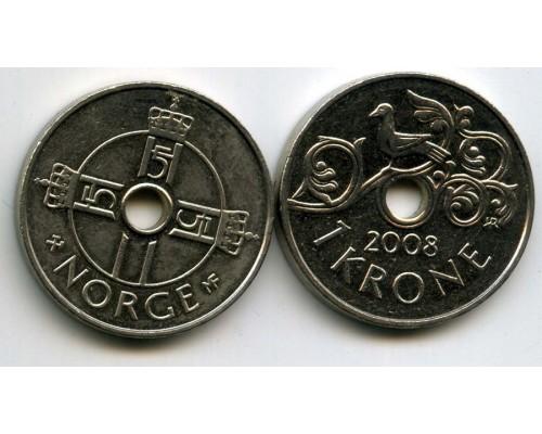 БЕЗ СКИДКИ Монета 1 крона Норвегия