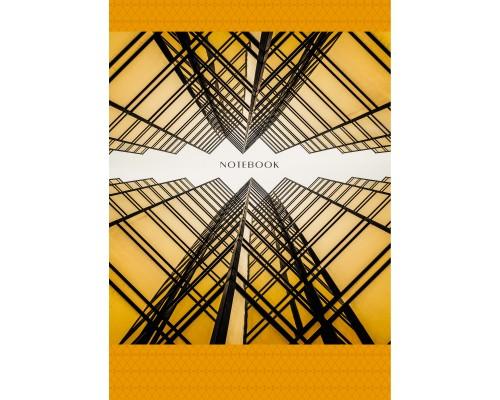 Книга для записей А4 100 листов Геометрия города