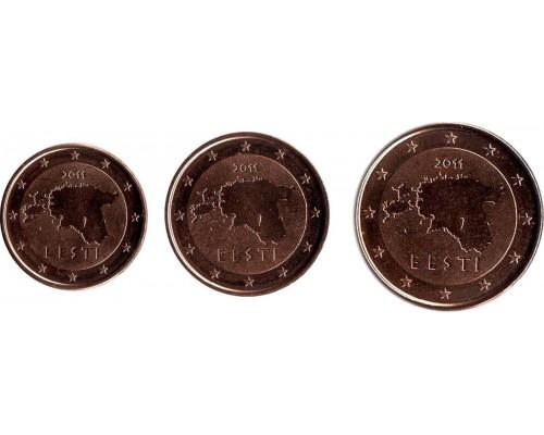 БЕЗ СКИДКИ Набор из 3 монет Эстония Евроценты