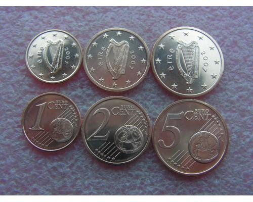 БЕЗ СКИДКИ Набор из 3 монет Ирландия Евроценты