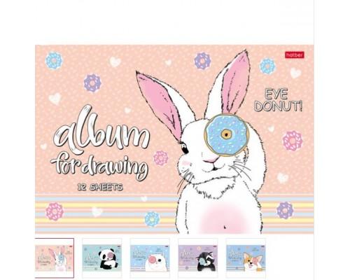 Альбом для рисования 12 листов Веселый пончик