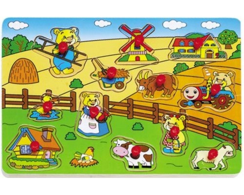 Игра детская настольная Пазл Ферма HJ98162Ak