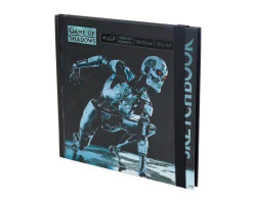 Скетчбук 160х160 Т-800 7БЦ, мат лам+выб лак, 40л, 120г, черная бумага С40-4076