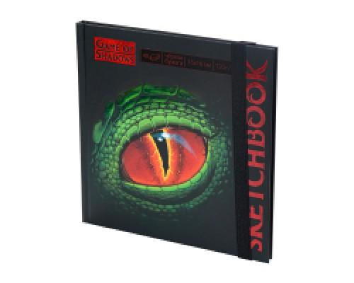 Скетчбук 160х160 Eye of the Dragon (7БЦ, мат лам+выб лак, 40л, 120г, черная бума