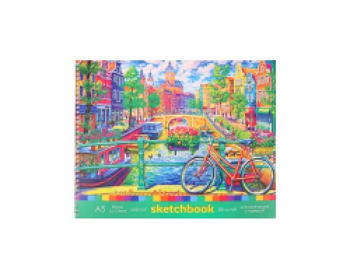Скетчбук А3 Альбомный Голландия мат лам, гребень, жест подложка, 30л, 100г С30