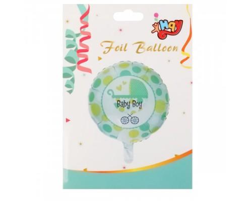 Воздушный шар фольгированный 43см Baby boy КОКОС 184671